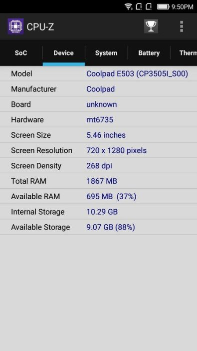 Coolpad Fancy 3 CPU Z (3)
