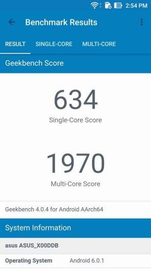 Asus ZenFone 3 Max ZC553KL Geekbench 4