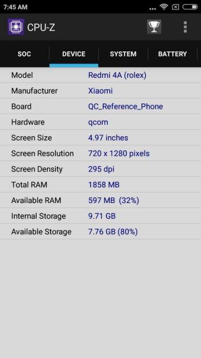 Xiaomi Redmi 4A CPU-Z (3)