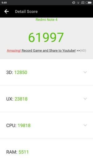 Xiaomi Redmi Note 4 Antutu