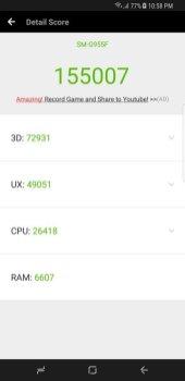 Galaxy S8+ Antutu