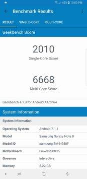 Galaxy Note8 Geekbench 4