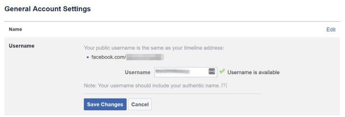 Cara Untuk Mengganti Username Facebook