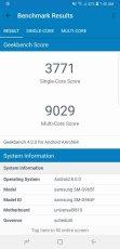 Galaxy S9+ geekbench
