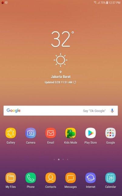 Galaxy Tab A (2018) UI
