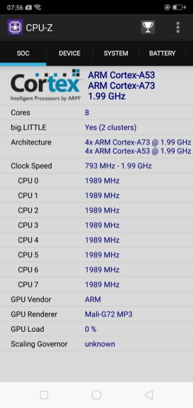 Oppo F7 CPU Z (1)