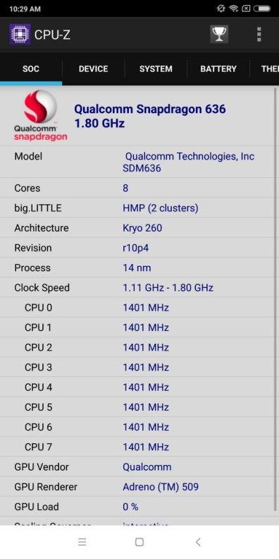 Redmi Note 5 CPU Z (1)