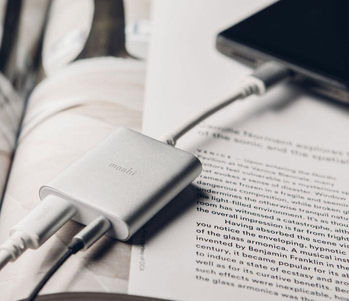 Moshi USB-C Digital Audio Adapter with Charging: Bisa Isi Ulang Baterai Sambil Mendengarkan Musik 16 harga, moshi, Moshi USB-C Digital Audio Adapter with Charging, spesifikasi