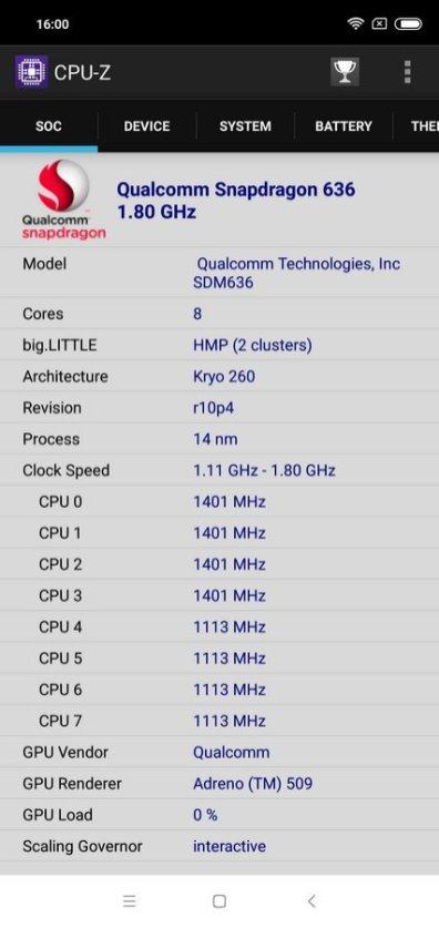 Redmi Note 6 Pro CPU Z (2)