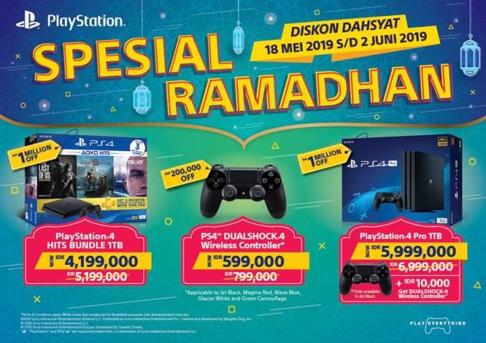 Promo Spesial Ramadan Playstation 4, Tawarkan Potongan Harga hingga 1 juta Rupiah 1