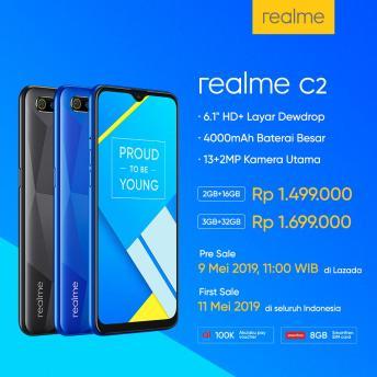 preorder realme c2 indonesia 2019