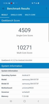 SAmsung Galaxy S10 geekbench-1