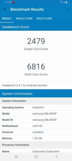Galaxy A80 Geekbench
