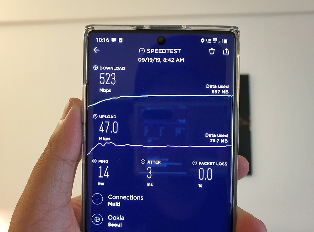Galaxy Note10 5G test Korea