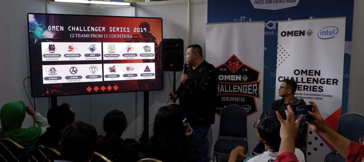 HP Omen Challenger Series 2019 teams
