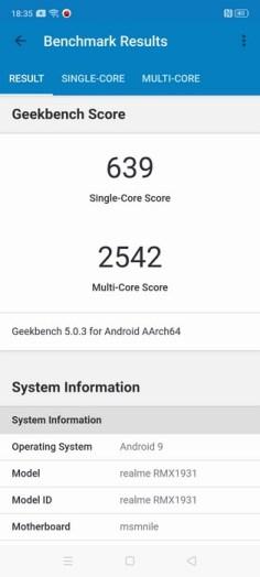 realme X2 Pro Geekbench