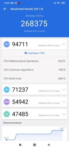 Xiaomi Mi Note 10 Pro Antutu 8