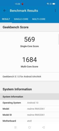 realme 6 Pro Geekbench 5