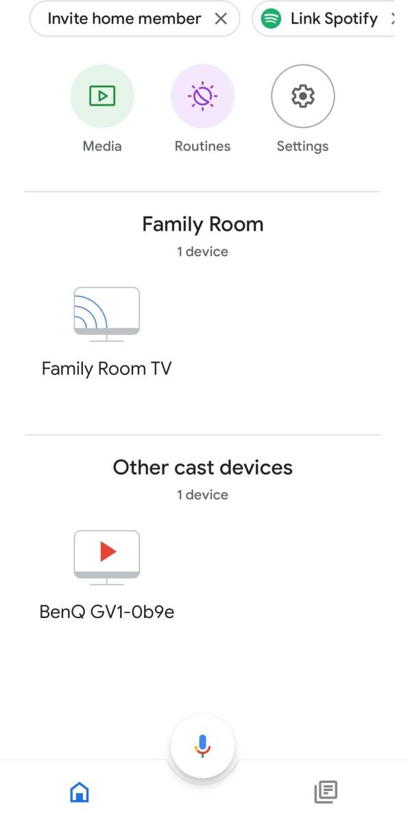 BenQ GV1 google home