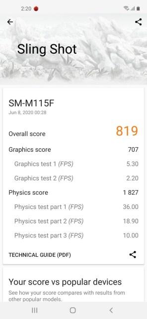 Galaxy M11 3DMark