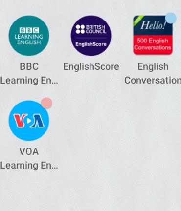 Aplikasi-aplikasi untuk menambah kemampuan bahasa Inggris.