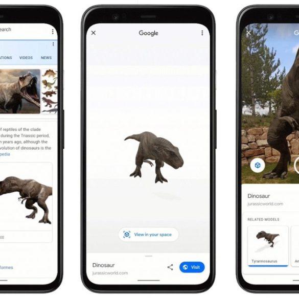 Google AR Dinosaurus
