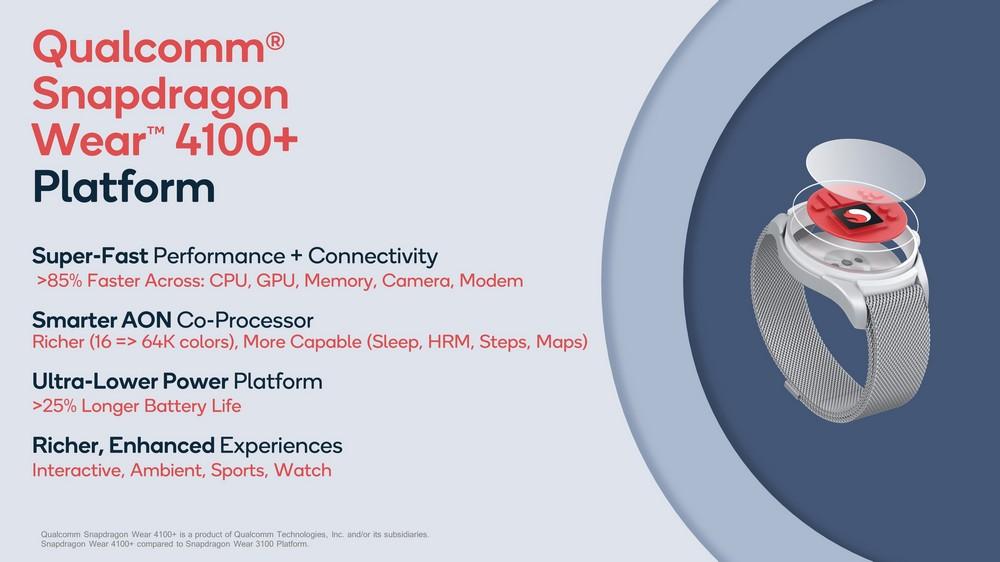 Qualcomm Snapdragon Wear 4100 Platform Overview
