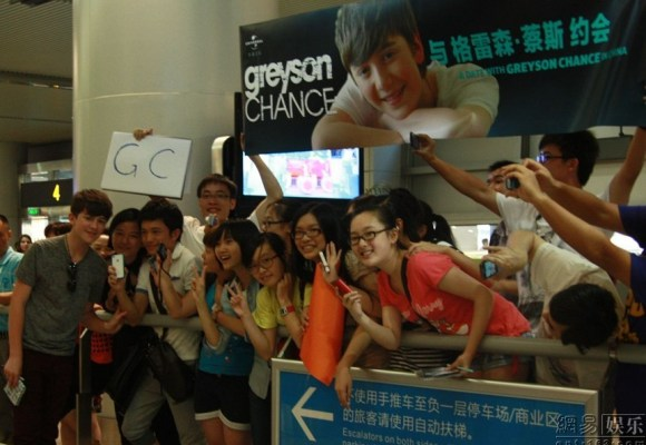 Greyson Chance & Chinese Fans