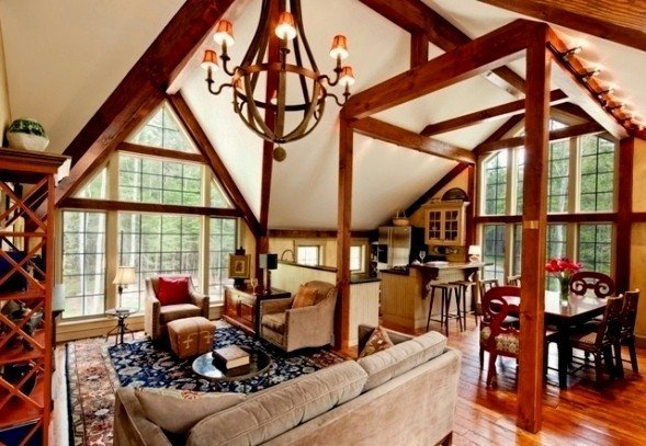 Barn Houses Eclectic Interior Decor Examples