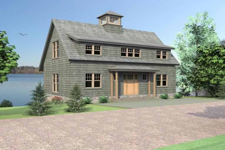 Barn House Plans  Chris Sevigny s Your Man Barn House Plans   Mansfield Hollow Front Elevation