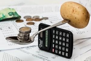 balancing your finance using coin versus potato illustration