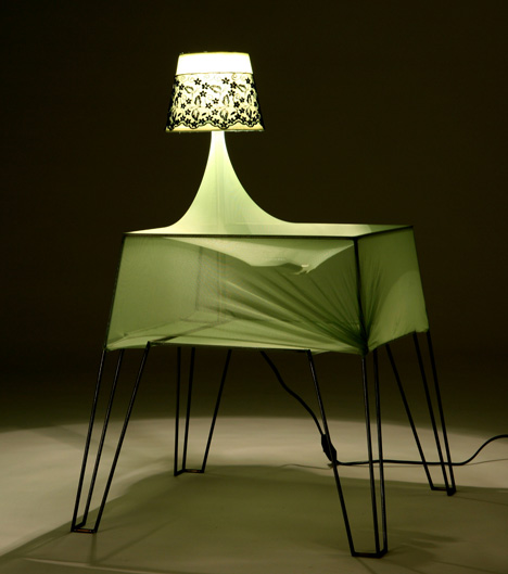 Bouncy Bedside Table by Ira Rozhavsky