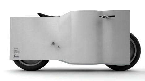 """""""Square Against Air"""" electric motorcycle design"""