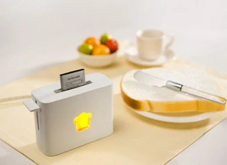 Lidée Gadget Design pour Geeks - Le Toaster pour piles