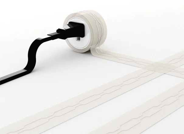 Post Line Flat Extension Wire by Chen Ju Wei