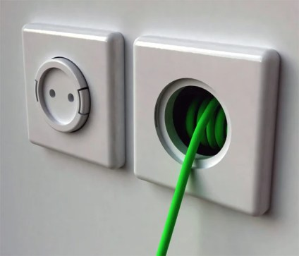 Rambler Socket Built-in Wall Extension Cord by Meysam Movahedi