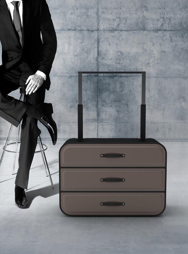 Traveling Luggage Closet