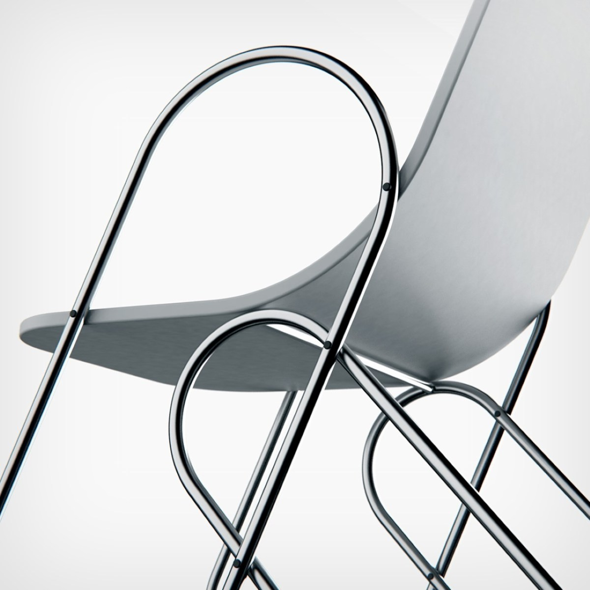 Paperclip Chair by Andrew Edge