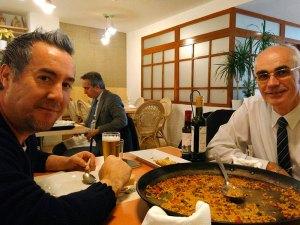Jauja, comida de Fernando y Paco