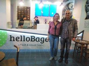 Paco de Yantarplus con Mari Luz de Hello Bagel