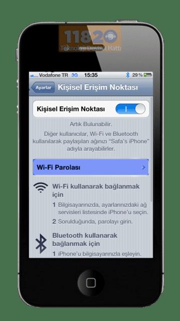 iPhone HotSpot Açma Kapama, iPhone Kişisel Erişim Noktası, HotSpot, iPhone, Apple,