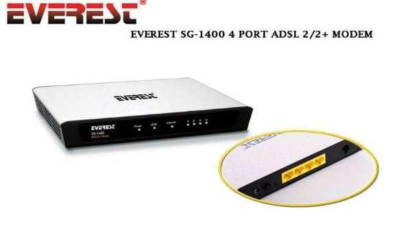 Everest-SG-1400 Modem Kurulumu