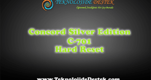Concort Silver Edition C-701 Hard Reset