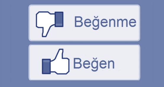 Facebooka Begenmeme Dislike Tusu Geliyor2