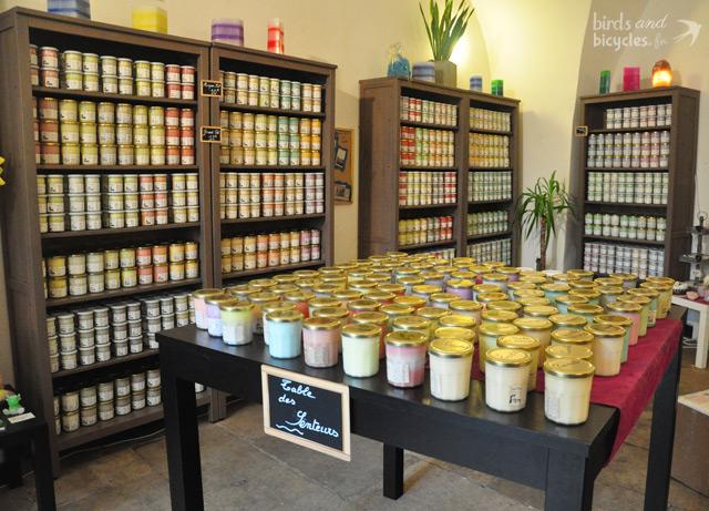La boutique des bougies de Charroux à Montpellier
