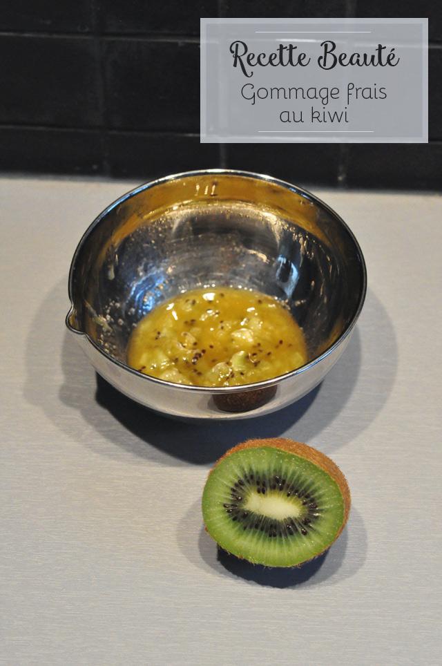Recette beauté: un gommage au kiwi