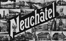Vieille carte postale de Neuchâtel