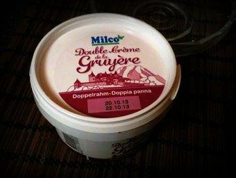 Double crème de Gruyère, une tuerie