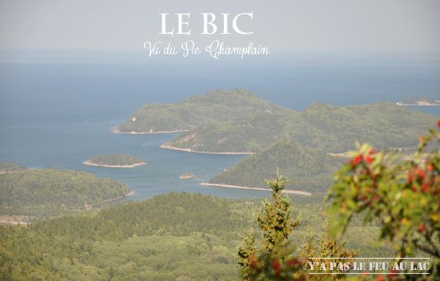 Vue du Bic depuis le Pic Champlain