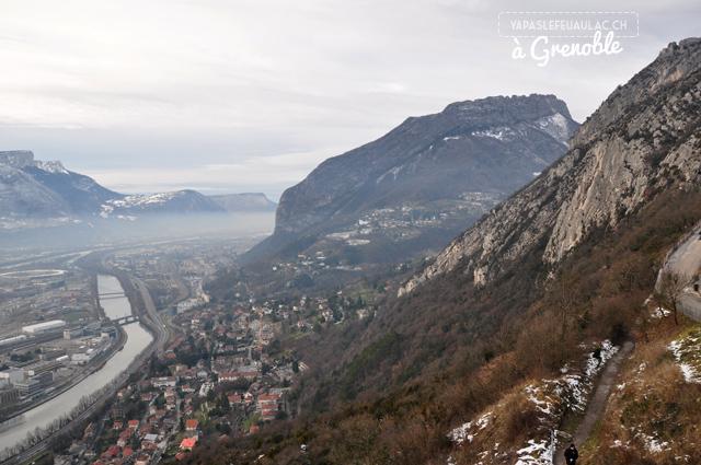 Vue depuis la Bastille de Grenoble...